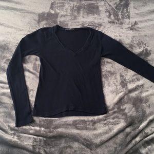 Simple navy long sleeve brandy Melville top
